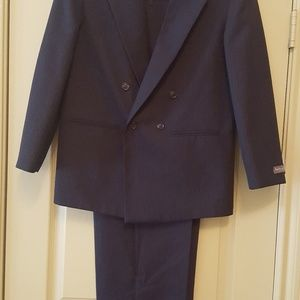 Navy blue pin stripe dress suit